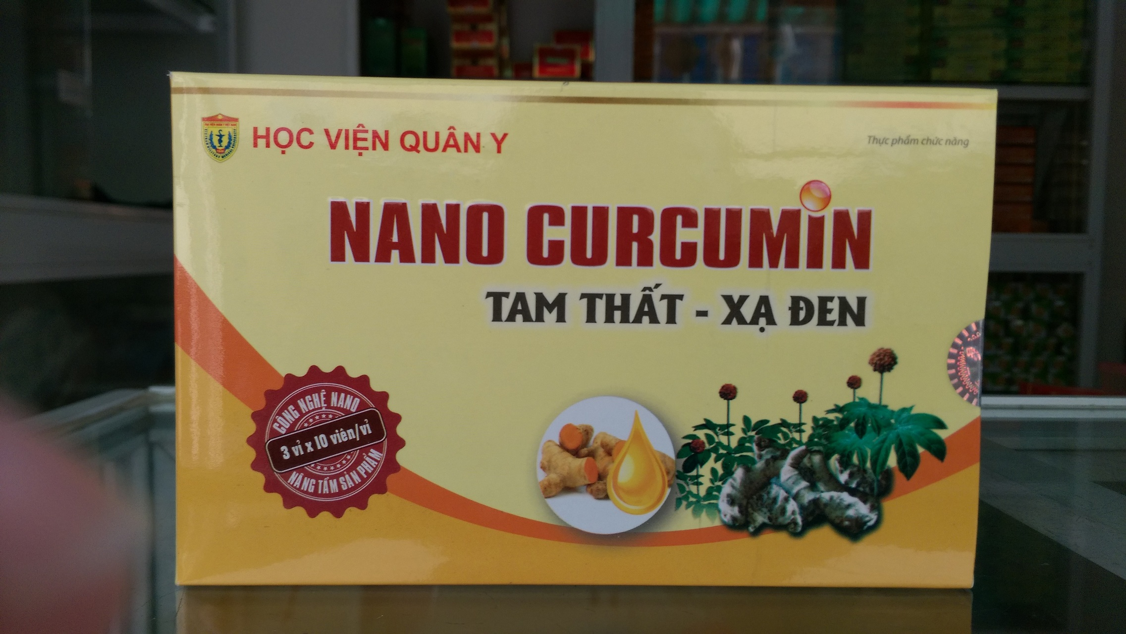 nano curcumin tam thất xạ đen 1
