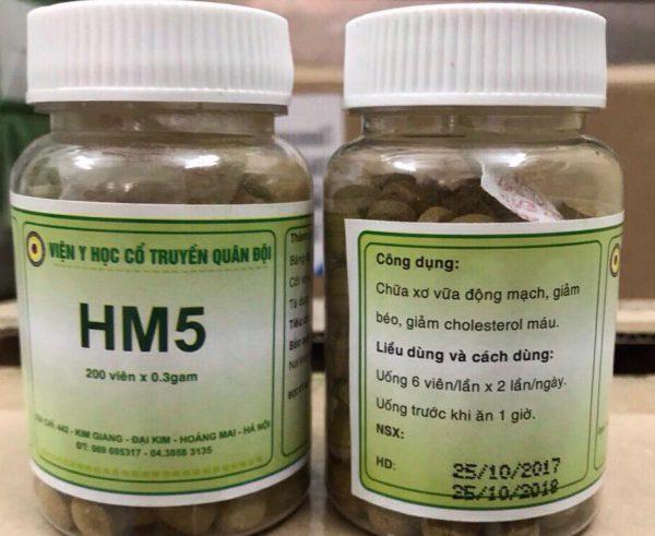 thuốc HM5 viện yhct quân đội