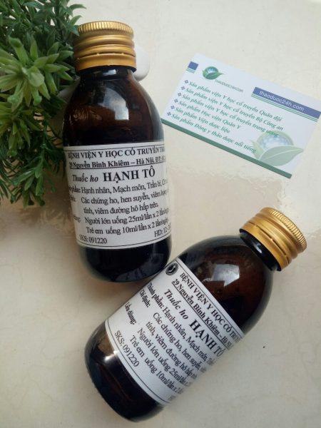 thuốc ho hạnh tô bệnh viện yhct trung ương